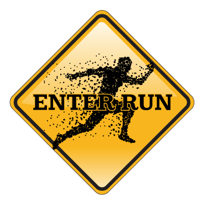 run in the dark sign up button