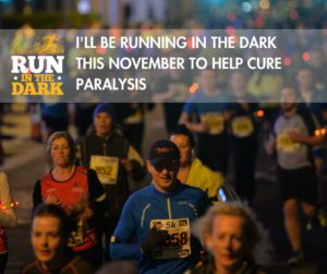 """I'll be running to help cure paralysis"""